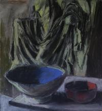 Base Relief with Blue and Red Bowls 200x218