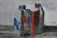 Watercolour five plastic bottles 200x134